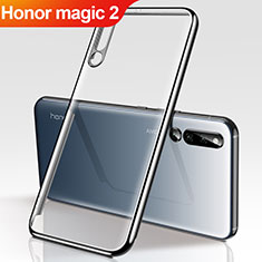 Silikon Schutzhülle Ultra Dünn Tasche Durchsichtig Transparent H01 für Huawei Honor Magic 2 Schwarz