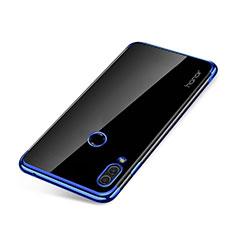 Silikon Schutzhülle Ultra Dünn Tasche Durchsichtig Transparent H01 für Huawei Honor Note 10 Blau