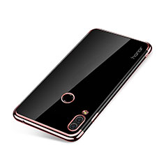 Silikon Schutzhülle Ultra Dünn Tasche Durchsichtig Transparent H01 für Huawei Honor Note 10 Rosegold
