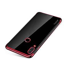 Silikon Schutzhülle Ultra Dünn Tasche Durchsichtig Transparent H01 für Huawei Honor Note 10 Rot