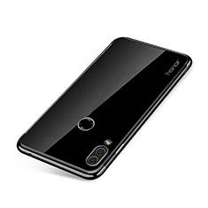 Silikon Schutzhülle Ultra Dünn Tasche Durchsichtig Transparent H01 für Huawei Honor Note 10 Schwarz