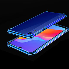 Silikon Schutzhülle Ultra Dünn Tasche Durchsichtig Transparent H01 für Huawei Honor Play 8A Blau