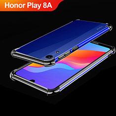 Silikon Schutzhülle Ultra Dünn Tasche Durchsichtig Transparent H01 für Huawei Honor Play 8A Schwarz