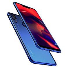 Silikon Schutzhülle Ultra Dünn Tasche Durchsichtig Transparent H01 für Huawei Honor Play Blau