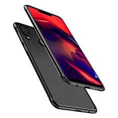 Silikon Schutzhülle Ultra Dünn Tasche Durchsichtig Transparent H01 für Huawei Honor Play Schwarz