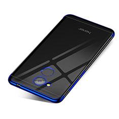 Silikon Schutzhülle Ultra Dünn Tasche Durchsichtig Transparent H01 für Huawei Honor V9 Play Blau