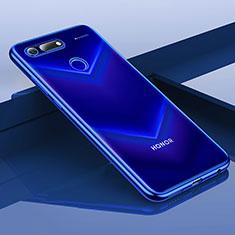 Silikon Schutzhülle Ultra Dünn Tasche Durchsichtig Transparent H01 für Huawei Honor View 20 Blau