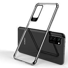 Silikon Schutzhülle Ultra Dünn Tasche Durchsichtig Transparent H01 für Huawei Honor View 30 5G Schwarz