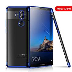 Silikon Schutzhülle Ultra Dünn Tasche Durchsichtig Transparent H01 für Huawei Mate 10 Pro Blau