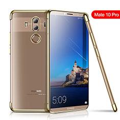 Silikon Schutzhülle Ultra Dünn Tasche Durchsichtig Transparent H01 für Huawei Mate 10 Pro Gold