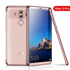 Silikon Schutzhülle Ultra Dünn Tasche Durchsichtig Transparent H01 für Huawei Mate 10 Pro Rosegold