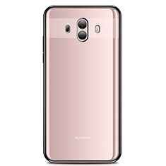 Silikon Schutzhülle Ultra Dünn Tasche Durchsichtig Transparent H01 für Huawei Mate 10 Schwarz