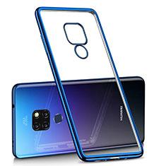 Silikon Schutzhülle Ultra Dünn Tasche Durchsichtig Transparent H01 für Huawei Mate 20 Blau