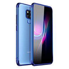 Silikon Schutzhülle Ultra Dünn Tasche Durchsichtig Transparent H01 für Huawei Mate 20 X 5G Blau