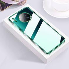 Silikon Schutzhülle Ultra Dünn Tasche Durchsichtig Transparent H01 für Huawei Mate 30 Pro Grün
