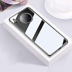 Silikon Schutzhülle Ultra Dünn Tasche Durchsichtig Transparent H01 für Huawei Mate 30 Schwarz