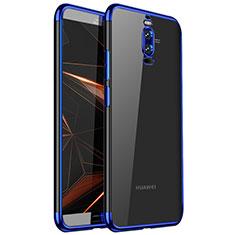 Silikon Schutzhülle Ultra Dünn Tasche Durchsichtig Transparent H01 für Huawei Mate 9 Pro Blau