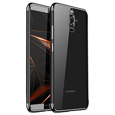 Silikon Schutzhülle Ultra Dünn Tasche Durchsichtig Transparent H01 für Huawei Mate 9 Pro Schwarz