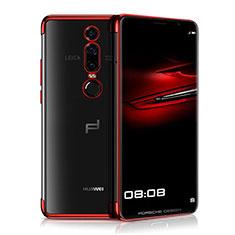 Silikon Schutzhülle Ultra Dünn Tasche Durchsichtig Transparent H01 für Huawei Mate RS Rot