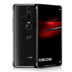 Silikon Schutzhülle Ultra Dünn Tasche Durchsichtig Transparent H01 für Huawei Mate RS Schwarz
