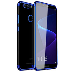 Silikon Schutzhülle Ultra Dünn Tasche Durchsichtig Transparent H01 für Huawei Nova 2 Blau