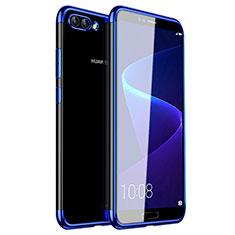 Silikon Schutzhülle Ultra Dünn Tasche Durchsichtig Transparent H01 für Huawei Nova 2S Blau