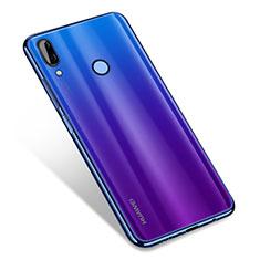 Silikon Schutzhülle Ultra Dünn Tasche Durchsichtig Transparent H01 für Huawei Nova 3 Blau