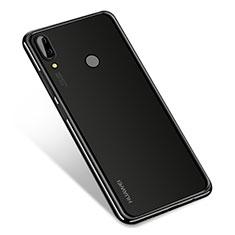 Silikon Schutzhülle Ultra Dünn Tasche Durchsichtig Transparent H01 für Huawei Nova 3 Schwarz