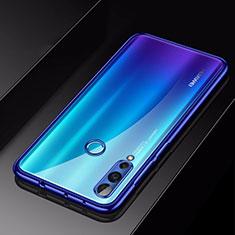 Silikon Schutzhülle Ultra Dünn Tasche Durchsichtig Transparent H01 für Huawei Nova 4 Blau