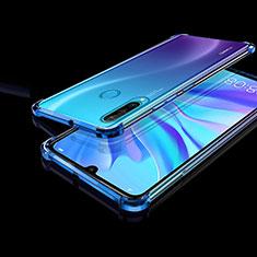 Silikon Schutzhülle Ultra Dünn Tasche Durchsichtig Transparent H01 für Huawei Nova 4e Blau