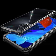 Silikon Schutzhülle Ultra Dünn Tasche Durchsichtig Transparent H01 für Huawei Nova 5 Schwarz