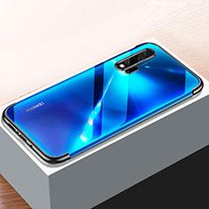 Silikon Schutzhülle Ultra Dünn Tasche Durchsichtig Transparent H01 für Huawei Nova 6 5G Schwarz