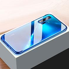 Silikon Schutzhülle Ultra Dünn Tasche Durchsichtig Transparent H01 für Huawei Nova 6 Blau