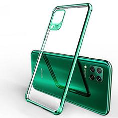 Silikon Schutzhülle Ultra Dünn Tasche Durchsichtig Transparent H01 für Huawei Nova 6 SE Grün