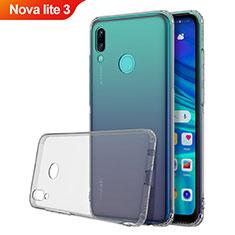 Silikon Schutzhülle Ultra Dünn Tasche Durchsichtig Transparent H01 für Huawei Nova Lite 3 Grau