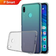 Silikon Schutzhülle Ultra Dünn Tasche Durchsichtig Transparent H01 für Huawei P Smart (2019) Grau