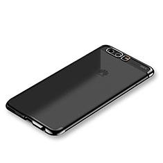 Silikon Schutzhülle Ultra Dünn Tasche Durchsichtig Transparent H01 für Huawei P10 Schwarz