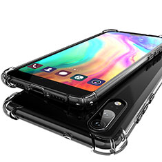 Silikon Schutzhülle Ultra Dünn Tasche Durchsichtig Transparent H01 für Huawei P20 Grau