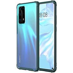 Silikon Schutzhülle Ultra Dünn Tasche Durchsichtig Transparent H01 für Huawei P40 Pro+ Plus Grün