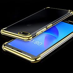 Silikon Schutzhülle Ultra Dünn Tasche Durchsichtig Transparent H01 für Huawei Y5 (2018) Gold
