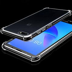 Silikon Schutzhülle Ultra Dünn Tasche Durchsichtig Transparent H01 für Huawei Y5 (2018) Klar