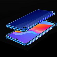 Silikon Schutzhülle Ultra Dünn Tasche Durchsichtig Transparent H01 für Huawei Y6 (2019) Blau
