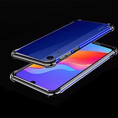Silikon Schutzhülle Ultra Dünn Tasche Durchsichtig Transparent H01 für Huawei Y6 (2019) Schwarz