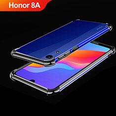 Silikon Schutzhülle Ultra Dünn Tasche Durchsichtig Transparent H01 für Huawei Y6 Prime (2019) Schwarz