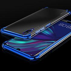 Silikon Schutzhülle Ultra Dünn Tasche Durchsichtig Transparent H01 für Huawei Y7 Prime (2019) Blau