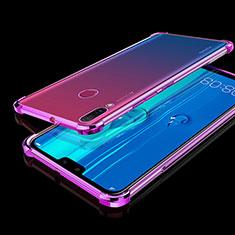 Silikon Schutzhülle Ultra Dünn Tasche Durchsichtig Transparent H01 für Huawei Y9 (2019) Violett