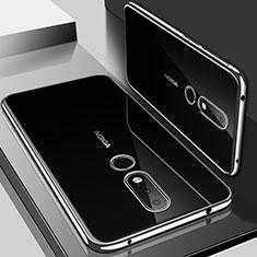Silikon Schutzhülle Ultra Dünn Tasche Durchsichtig Transparent H01 für Nokia 6.1 Plus Silber