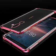 Silikon Schutzhülle Ultra Dünn Tasche Durchsichtig Transparent H01 für Nokia 7 Plus Rosegold