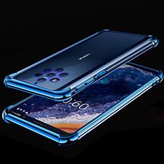 Silikon Schutzhülle Ultra Dünn Tasche Durchsichtig Transparent H01 für Nokia 9 PureView Blau