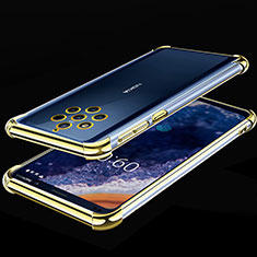 Silikon Schutzhülle Ultra Dünn Tasche Durchsichtig Transparent H01 für Nokia 9 PureView Gelb